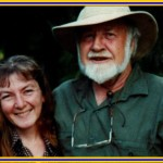 April Sampson-kelly and Bill Mollison her permaculture mentor