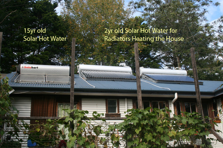 Our hydronic solar heating system