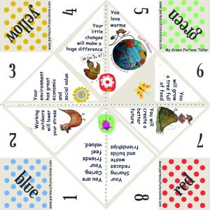 Permaculture paper fortune teller