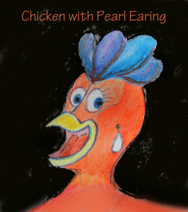 chicken-with-pearl-earing