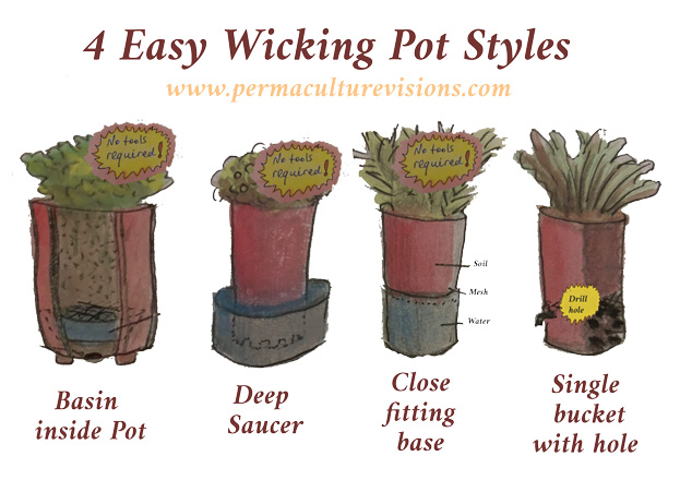 4 easy wicking pots