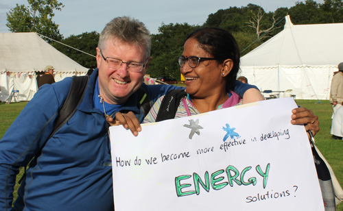 Paul and Padma at International Permaculture Conference in London