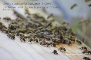 every successful individual knows...achievement depends on a community
